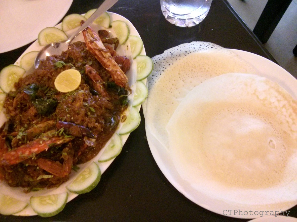 crab meat and appam