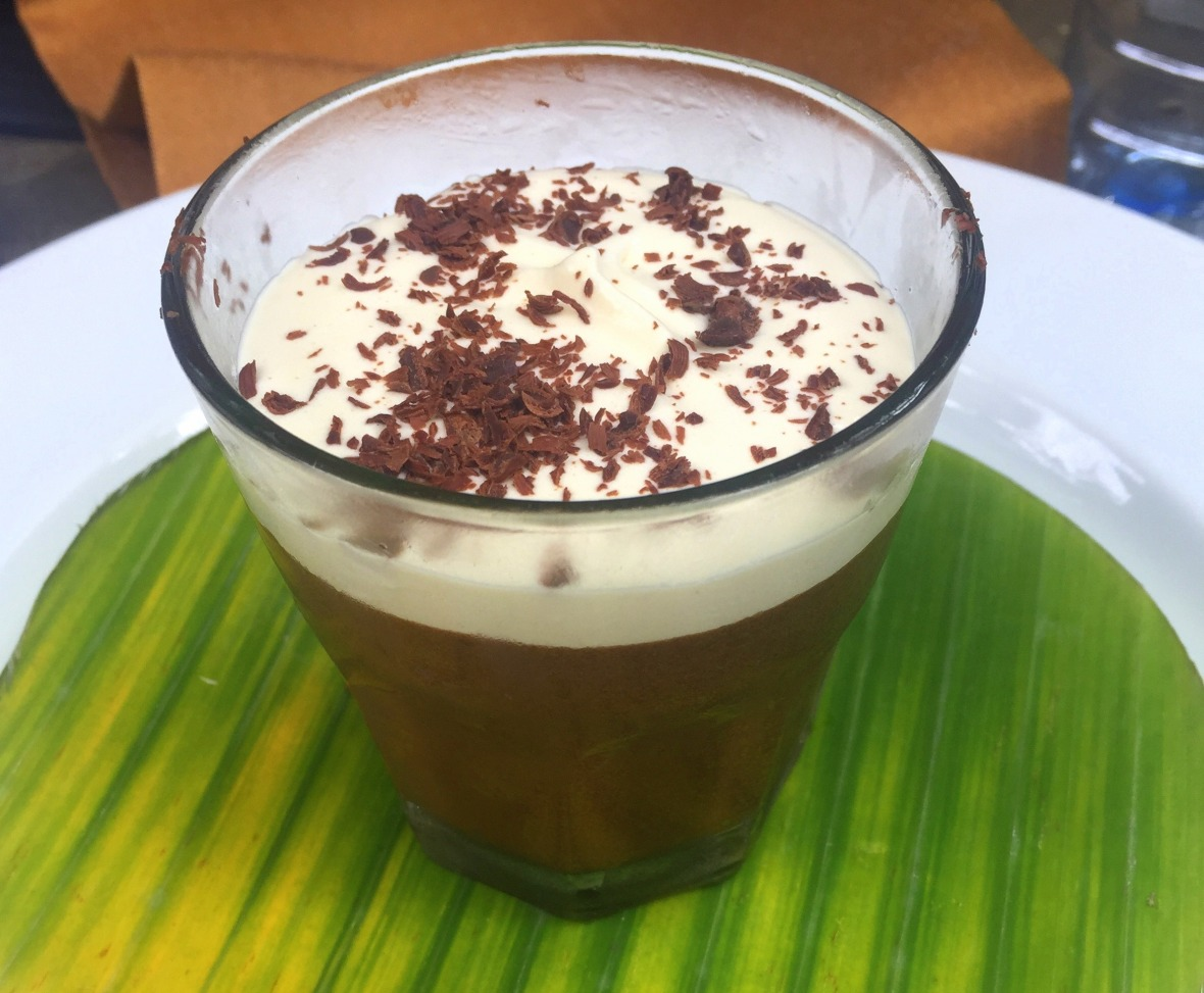 chocolate and whiskey mousse with baileys cream