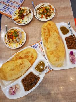 Chole Bhature and Chaat at Novelty Sweets